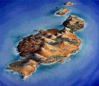 Viajes a Lanzarote: vista aérea de la isla de Lanzarote